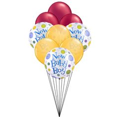 Welcome you new baby boy with this marvellous creation of balloons.