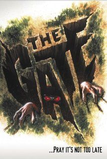 The Gate (1987), New Century Entertainment Corp with Stephen Dorff, Christa Denton, and Louis Tripp. It was a kids movie and should have been fined for being allowed to advertise as a horror flick.