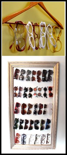 DIY ways to display sunglasses
