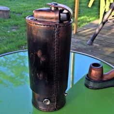 PipeTube leather pipe case with matching pipe stand by andrewjl