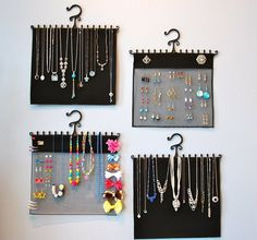 Awesome necklace and earring organizer!