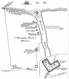 Location of the disputed Pekapeka block on the site of modern-day Waitara.  This Day in History: Mar 28,1860: First Taranaki War: The Battle of Waireka begins. http://dingeengoete.blogspot.com/