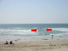 """RIP CURRENT: Stay safe while at the beach this summer! This could save your life. Do you know what a rip current looks like? We have probably all seen them and weren't aware of the danger. When you see waves and then a small section of """"flat"""" waves in between, that's a rip current. The water is moving in the opposite direction. Stay clear of these areas!!"""