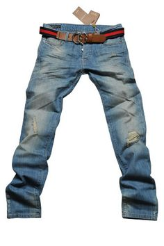 GUCCI Mens Jeans With Belt #77; $209.99  http://www.primerunway.com/Jeans/GUCCI-Mens-Jeans-With-Belt-77