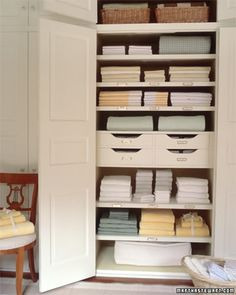 Ideas & Inspiration for Organizing and Putting Together a Linen Closet - bystephanielynn