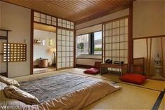 Unique Japanese Bedroom for Your Home. Japanese bedroom design style has unique characteristics. Japanese interior is about how to design the space that blends with nature. Japanese Style Bedroom, Japanese Style House, Traditional Japanese House, Traditional Bedroom, Japanese Style Living Room Ideas, Japanese Inspired Bedroom, Modern Japanese Interior, Japanese Interior Design, Japanese Home Decor