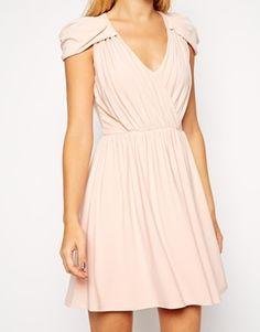 Enlarge ASOS PETITE Mini Dress with Wrap Front