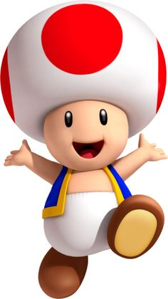 Toad is a single character that is actually part of an entire species, who appears in the Mario series of games. He is usually seen helping Mario in his adventures, although he sometimes does more. His first appearance was in Super Mario Bros. Super Mario 1985, Bolo Super Mario, New Super Mario Bros, Super Mario Birthday, Mario Birthday Party, Super Mario Party, Super Mario Brothers, Mario Kart, Mario Y Luigi