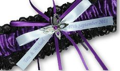 Purple and Black butterfly single by AussieWeddingGarters on Etsy, $29.00