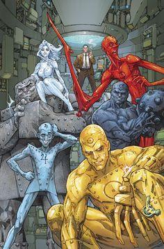 Metal Men Vol 4 Cover B Variant Kenneth Rocafort Cover Comic Book List, Dc Comic Books, Comic Book Artists, Comic Book Covers, Comic Artist, Dc Comics Heroes, Dc Comics Characters, Dc Comics Art, Anime Comics