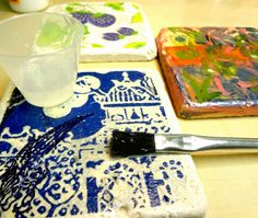 I LOVE RESIN: Glazing Tiles With Envirotex Lite To Make Cool Coasters