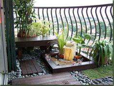 Unique balcony with Garden Outdoor Area