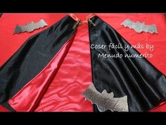 Cómo hacer una capa de vampiro para disfraz de Halloween   Manualidades