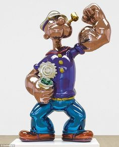 Love this Popeye balloon sculpture. Jeff Koons, POPEYE, (estimate upon request) Popeye Le Marin, Kitsch, Jeff Koons Art, Tv Movie, Popeye The Sailor Man, Instalation Art, Digital Museum, Oldenburg, Art Auction