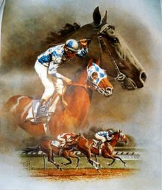 Alysheba painting by Fred Stone