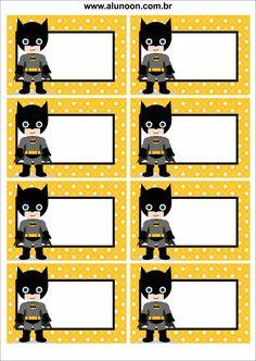 Batman Party, Batman Birthday, Superhero Party, Printable Name Tags, Printable Labels, School Name Labels, Superhero Classroom Theme, Batman Gifts, Frames