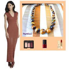 Dark Brown GemStone Necklace: http://etsy.me/1iECCDA