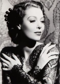 Loretta Young in Long Sleeve Lace - Old Hollywood Style Inspiration - Photos