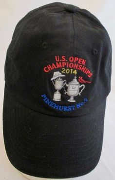 Golf 2014 US Open Championship Cap PINEHURST No 2 USGA Member Hat Adj Buckle #USGA