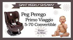 Baby Gizmo Weekly Giveaway: Peg Perego Primo Viaggio 5-70 Convertible Seat