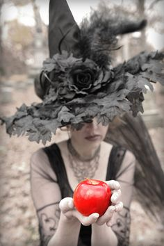 Witch with apple. Witches Night Out is October  23rd 2014 in Joliet IL!!   #WNO www.witchesnightout.com