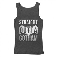 Men's Straight Outta Gotham Tank Top play on Straight outta Compton. Women's sizes also available