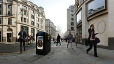 London: Advertisers can buy space on theinternet-connected bins, and the city gets 5% of the airtime to display public information.