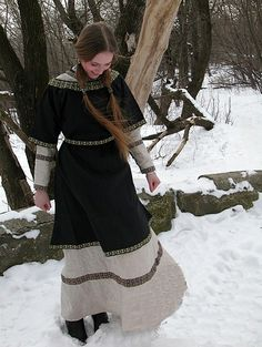 Winter Viking dress.