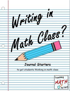 "Minds in Bloom is happy to present this guest post by Kim of Teaching Math by Hart. We just know you're going to love this post on journaling in math class! When I first introduce journaling to my students in my class, I generally hear comments like, ""Aren't we in Math class right now?"", followed by, ""Isn't journaling for Language Arts class?"". Who would have"