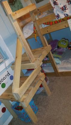 Bunk bed stairs instead of a ladder