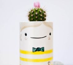 www.noemarin.etsy.com    Don Pichín by Noe Marin Studio    Large ceramic succulent planter with face, Ceramic planter, Ceramic vase, Ceramic plant pot, Cactus planter, Modern ceramic, Ceramic pottery