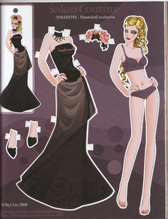 Salon Couture Sybarites Hautedoll Exclusive paper doll by Siyi Lin | Flickr - Photo Sharing!
