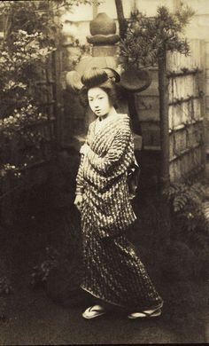 Photo likely dating to early 20th century. Japan