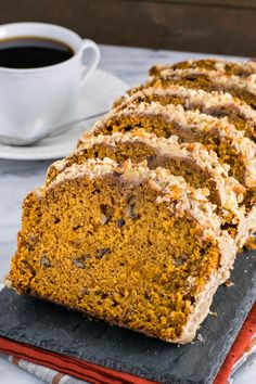 Pumpkin Pecan Bread can be an afternoon snack as well. Pure bliss.