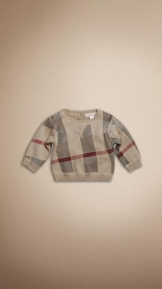 33aaf8a7fcf check print cashmere sweater for baby boy