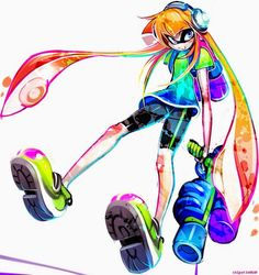 Some of this #Splatoon fan art is simply amazing! #Inkling