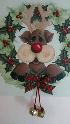 paint colour ideas for a wooden christmas reindeer Christmas Yard Art, Christmas Wood Crafts, Christmas Drawing, Christmas Mom, Christmas Paintings, Christmas Signs, Country Christmas, Christmas Pictures, Christmas Projects