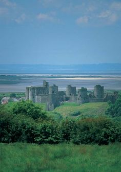 Carmarthenshire, Wales, Kidwelly Castle dates from 1200. Kidwelly was used for the film Monty Python and the Holy Grail