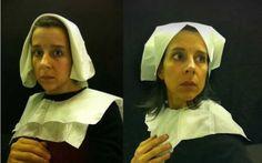 Airplane lavatory self-portraits in flemish style
