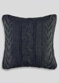 Cable Knit Cushion (48cm x 48cm) - Matalan