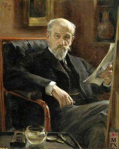 Osip Braz - Portrait of the artist A.P.Sokolova