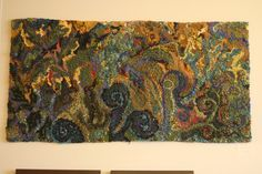 Abstract by Deanne Fitzpatrick rug hooker