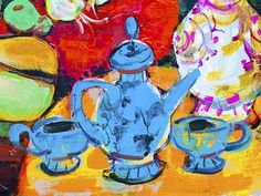 This is a puzzle you can do online Blue Tea Pot - JigZone.com