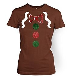 Gingerbread Man Costume (Deluxe) Womens T-shirt - Chestnut Small (UK Size Gingerbread Man Costumes, Christmas Costumes, Christmas Shirts, Ugly Christmas Sweater, Kids Christmas, Xmas, Christmas Concert, Shrek, Kids Shirts