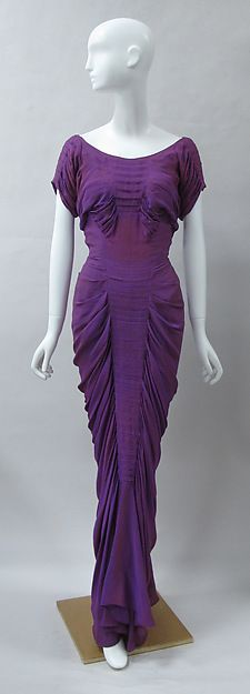 """<3 Vintage Fashion: 1930s [{""""La Sirène""""} DESIGNER: Charles James DATE: 1939 CULTURE: American MEDIUM: silk CREDIT: Brooklyn Museum Costume Collection at The Metropolitan Museum of Art, Gift of the Brooklyn Museum, 2009; Gift of Erik Lee Preminger in memory of his mother, Gypsy Rose Lee, 1993.]"""