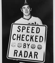 Nolan Ryan after a new state-of-the-art timing device in 1974 clocked his fastball at 100.9mph:  how stuff works