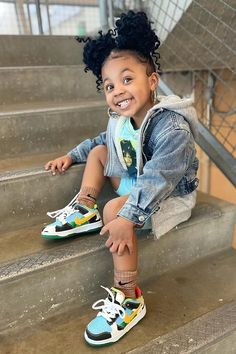Cute Little Girls Outfits, Baby Boy Outfits, Kids Outfits, Retro Outfits, Cute Kids Fashion, Girls Fashion Clothes, Baby Girl Fashion, Cute Black Babies, Beautiful Black Babies