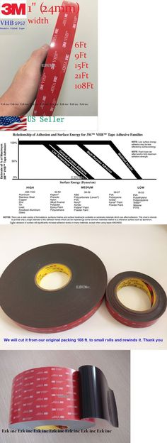"3M 1/"" x 21 ft  VHB Double Sided Foam Adhesive Tape 5952 Automotive Mounting 24mm"