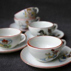 Little girl's antique tea set by MademoiselleChipotte