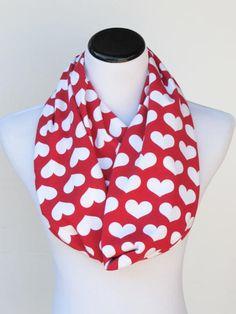 Valentine's day hearts infinty scarf red #valentine #valentinesday #red #hearts #redheart #redscarf #valentinescarf #valentinesdayscarf #scarf #infinityscarf #heartsscarf #asseccory #accessories #valentinegiftforher #HappyScarvesByLesya by HappyScarvesByLesya